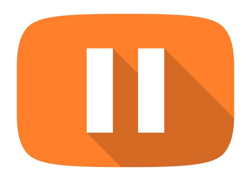pause flat design modern icon